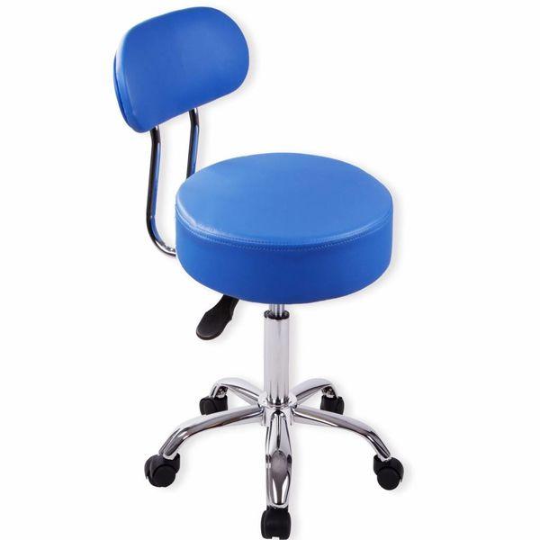 Werkstoel kapperstoel pedicure stoel met rugleuning