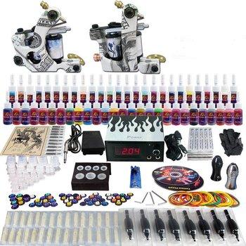 Complete Tattoo Set met 2 Gun Kompleet 40 kleuren