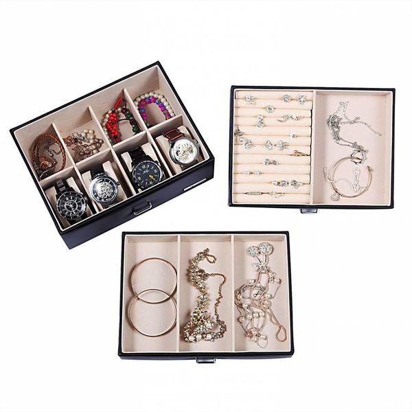 Juwelendoos met 6 lades  Sieradendoos Juwelenkist  Zwart
