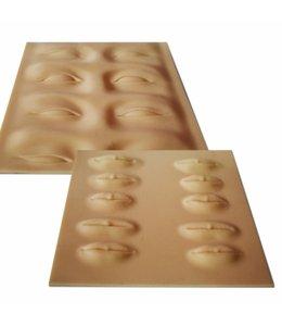 Permanente make-up Oefen huid silicon huid