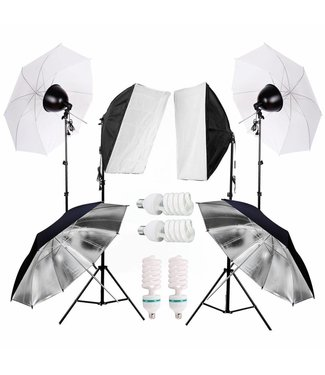 Softbox Fotostudio met fotoscherm en draagtas