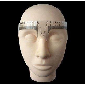 Wenkbrauwliniaal voor microblading of permanente make-up