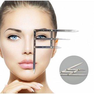 Sectiekompas voor Microblading Wenkbrauwen Make Up