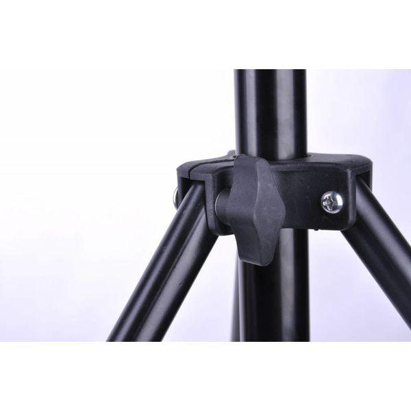 Telescopisch achtergrondsysteem voor fotostudio's
