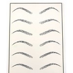 Oefenhuid wenkbrauwen voor microblading en permanente make up
