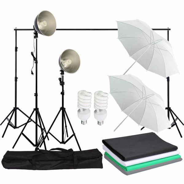 Fotostudio Achtergrond + Reflectiescherm + Statief + Fotolampen