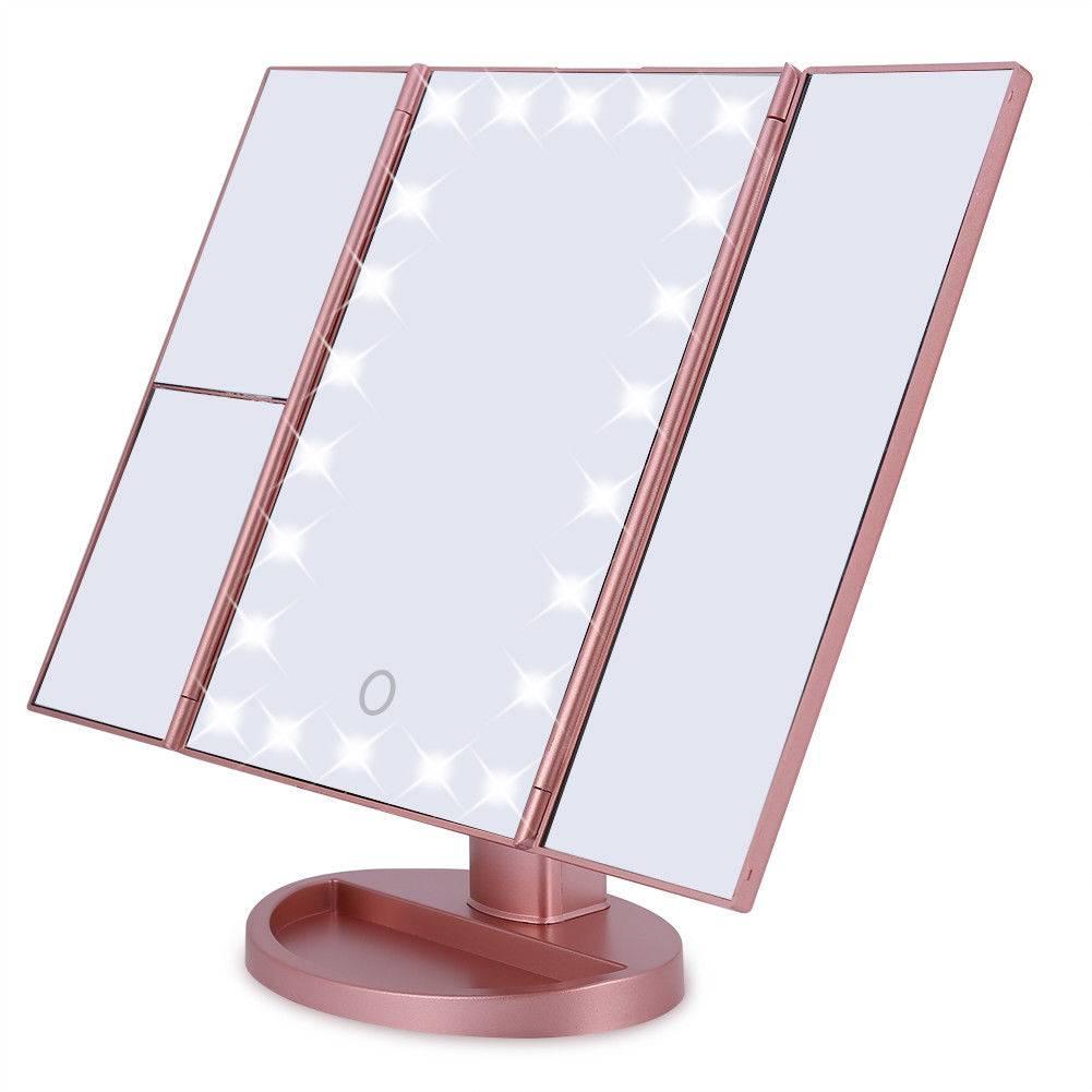 Make Up spiegel met LED verlichting en touch - Tradeshop Onlinehandel