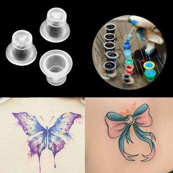 Tattoocups, Kleurcups, Inktcups, Kleurdoppen 100 stuks