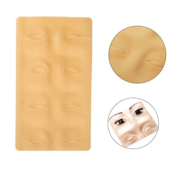 Oefenhuid voor wenkbrauwen microblading en permanente make up
