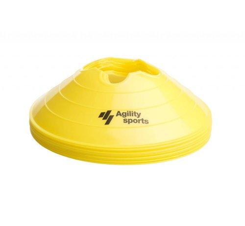 Agility Sports markeringshoedjes geel
