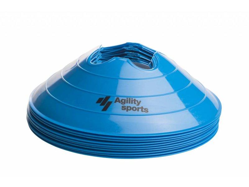 Agility Sports markeringshoedjes blauw (10 stuks)