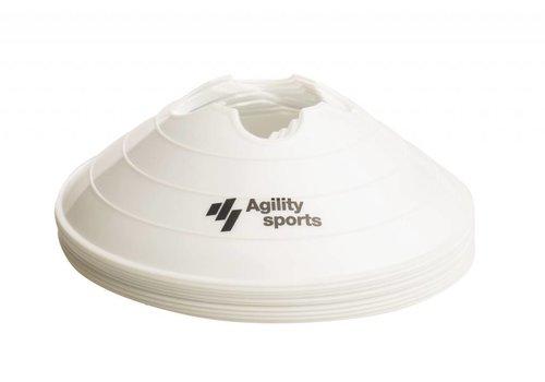Agility Sports markeringshoedjes wit (10 stuks)