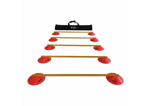 Agility Sports Horden Set - 5 Horden - Rood