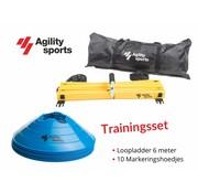 Agility Sports Trainingsset blauw 6 meter