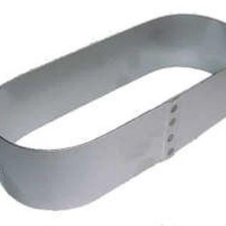 Ovale Sloffen ring 25-10 cm. RVS