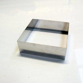 Rand Vierkant RVS 14-14 cm.