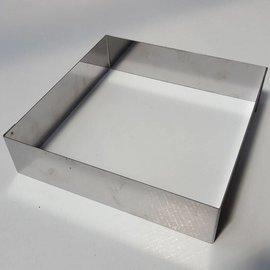 Rand Vierkant RVS 20-20 cm.