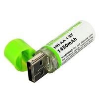 Oplaadbare AA batterij  via USB poort