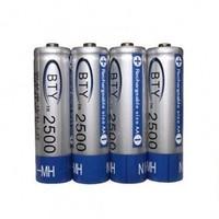 4x 2500mAh oplaadbare AA batterijen