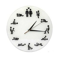 Klok met seksstandjes