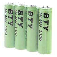 4x 2800mAh oplaadbare AA batterijen