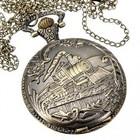 Bronzen zak/hanger horloge