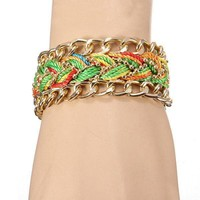 Retro look gold plated armband
