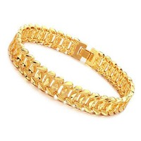 Gold plated heren armband