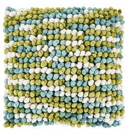 Sierkussen Alita 45x45 cm turquiose