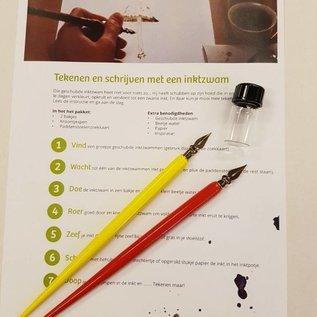 Schrijven met een inktzwam