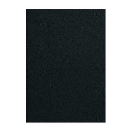 GBC voorblad GBC A4 Karton lederlook 250gr zwart