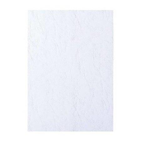 GBC voorblad A4 karton lederlook 250gr wit