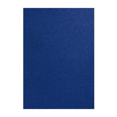 GBC voorblad A4 karton lederlook 250gr koningsblauw