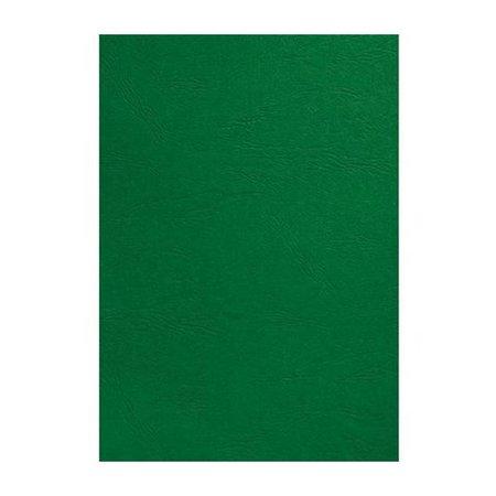 GBC voorblad A4 karton lederlook 250gr groen