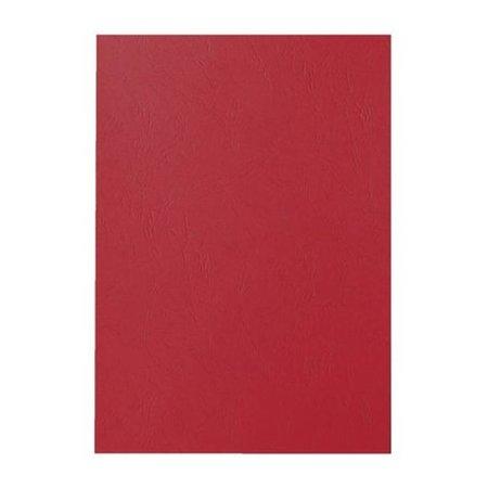 GBC voorblad A4 karton lederlook 250gr bordeaux