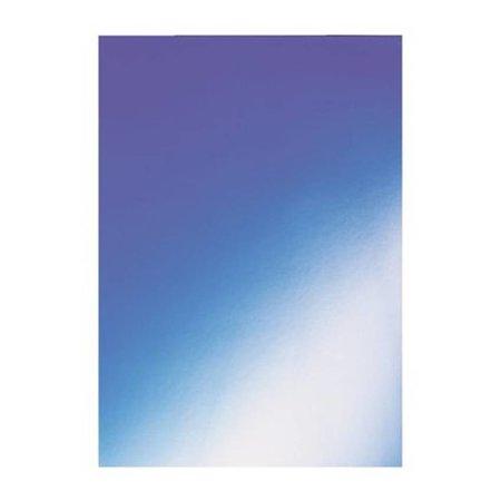 GBC voorblad A4 karton higloss 250gr blauw