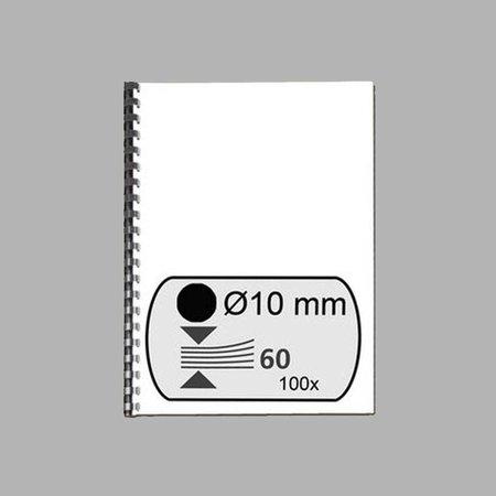 GBC plastic bindrug 10mm 21 rings A4