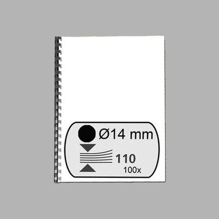 GBC plastic bindrug 14mm 21 rings A4 100 stuks