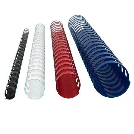 GBC plastic bindrug 6mm 21 rings A4 25 stuks