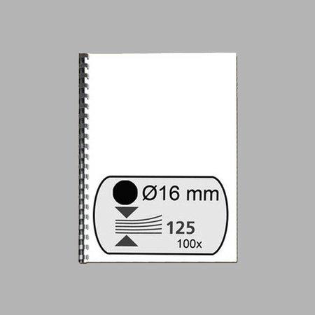GBC bindrug 16mm 21 rings A4 100 stuks