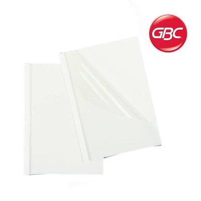 GBC 6mm omslag transp/wit