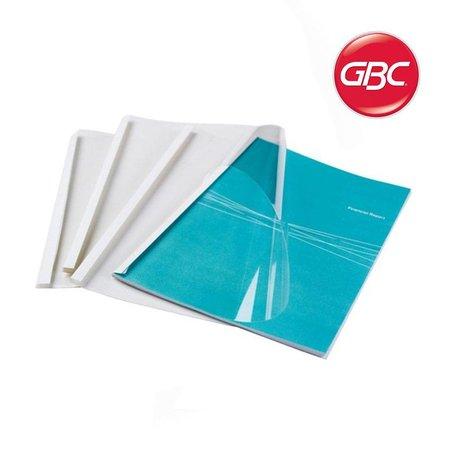 GBC thermische omslag optimal a4 3mm transparant/wit 100stuk