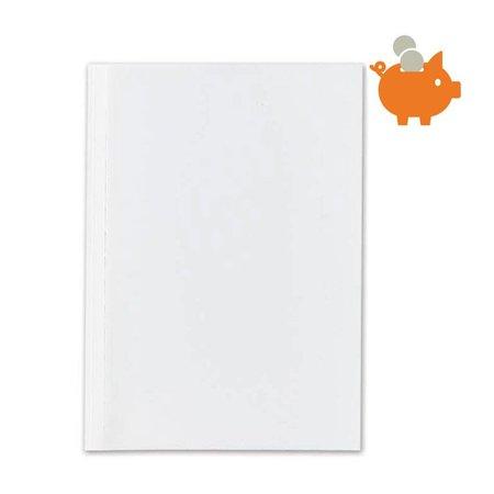 Huismerk Bindomslagen 4mm wit/transparant 100st.