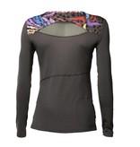 Habiba longsleeve sport shirt raven