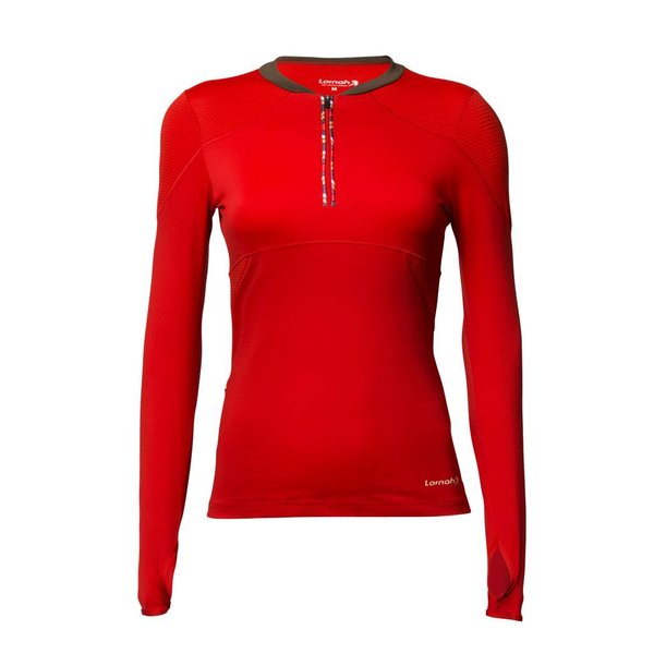 Gabra long sleeve shirt red
