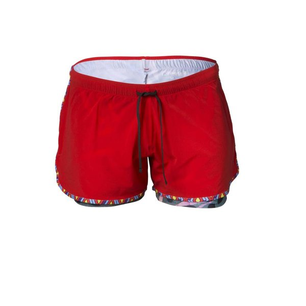 Desta short red