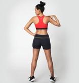 Afiya Shorts red & black