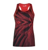 Kibibi tank top red & black feathers