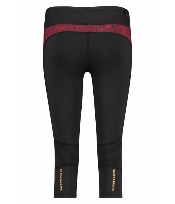 Makena Capri Tight red & black feathers