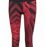 Makena Capri Tight rood/zwart